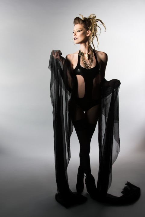 High Fashion shoot jewelry and latex