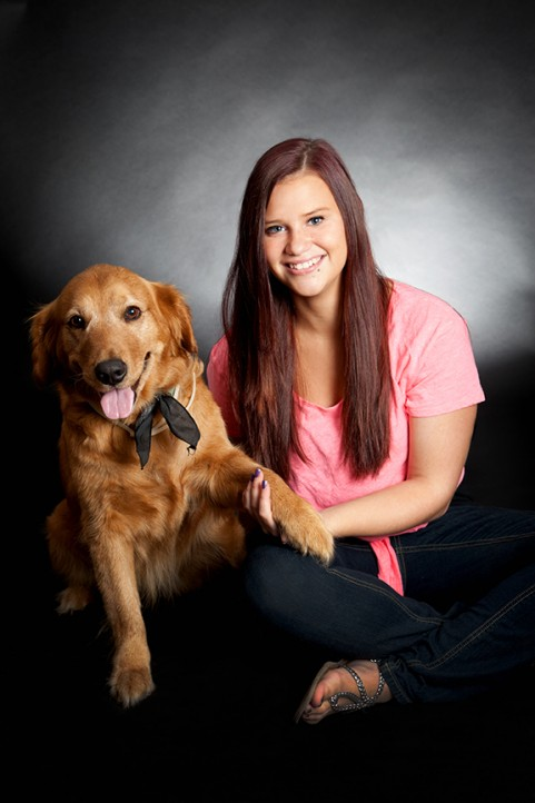High School Senior with Dog